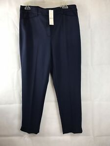 Nwt The Slim taglia Blue Whmm Pants Officer Ponte Ankle Rosso 79 10r RqwcwUvf