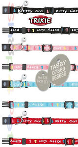 Cat-Kitten-Collar-TRIXIE-Kitty-With-or-Without-a-ENGRAVED-PET-ID-TAG-Tags
