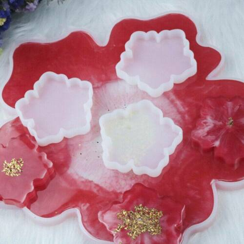 Silicone Flower Mold Coaster Pad Casting Mold Resin Making Epoxy Craft Tool DIY