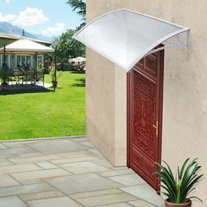 Details about Front Door Canopy Porch Rain Snow Protection Shelter Cover  Window Doorway Roof