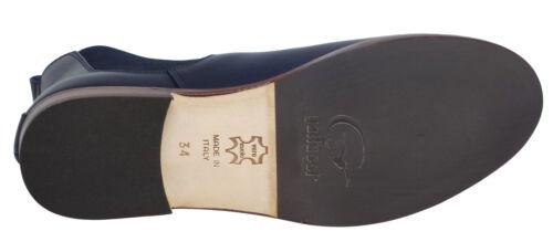 Gallucci 5065 Mädchen hohe Stiefel Glattleder schmal schwarz 36-41 Neu