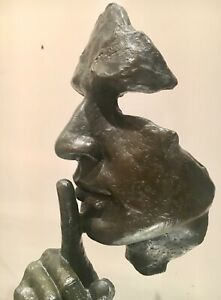 SILENCE-AND-SERENITY-SOLID-BRONZE-GENUINE-LOST-WAX-SCULPTURE-UNIQUE-ABSTRACT-ART