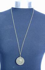 Fluch der Karibik Azteken münze Medaillon Schädel-charme 76.2cm Lange Halskette