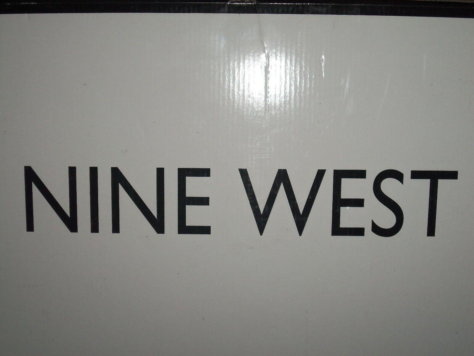 Nine West Fenna botas Negro Satinado botas Fenna 10 M Nuevo Y En Caja 1d4774