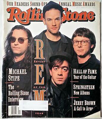 Rolling Stone 625 REM Artist of Year Michael Stipe Springsteen Mar ...