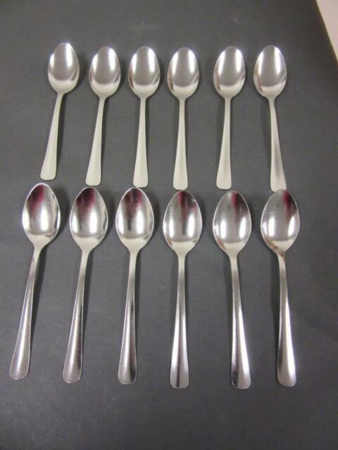 Set of 12 Oneida Delco Midland Stainless Teaspoons