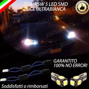 COPPIA LUCI POSIZIONE 5 LED FIAT PUNTO MK2, MK3 T10 CANBUS BIANCO