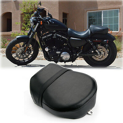 Motorcycle Passenger Rear Seat Pad Pillion Cushion 8 Suction Cup For Harley Davidson Sportster XL883 XL200 X48 X72 Cruiser Chopper Custom Brown