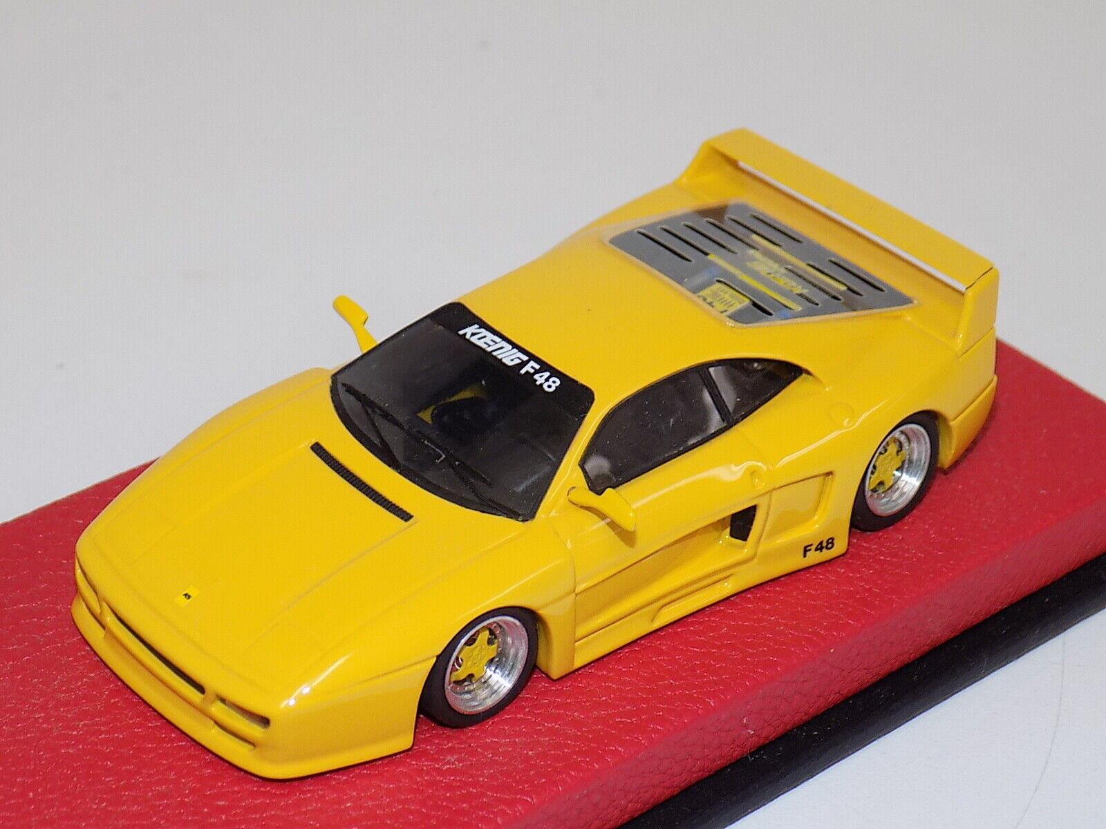 1 43 BBR Ferrari F48 Koenig from 1991 in Yellow on Red Leather  BBR37B    GP038