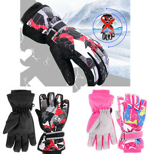 Kids-Boys-Girls-Ski-Snow-Gloves-Winter-Waterproof-Warm-Thermal-Windproof-Mittens