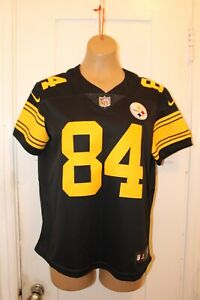 NIKE Pittsburgh Steelers Antonio Brown #84 Black Color Rush Limited Jersey Wom M
