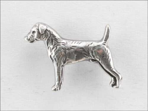 LOT OF 25 PCS CONCHO DOG//TERRIER SILVER FINISH NEW 10-1021