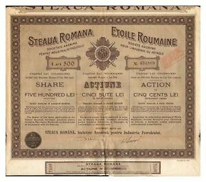ACTION-ETOILE-ROUMAINE-PETROLE-500-LEI-1921