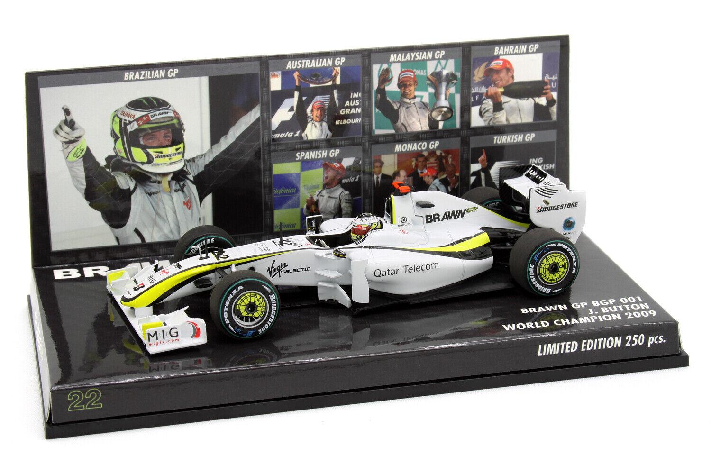 1 43 Minichamps Jenson Button Brawn GP BGP 001 2009 2009 2009 World Champion Lim 250pcs bf9