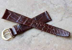 Stunning-Genuine-Baby-Crocodile-18mm-unpadded-flat-vintage-watch-strap-1960s-NOS