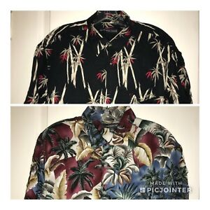 cee7028e3da Details about Lot of 2 Men's Summer Button Front Shirts Natural Issue Croft  & Barrow Size L