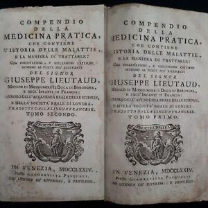 G-Lieutaud-Compendio-della-medicina-pratica-2-Tomi-in-1-Vol-Venezia-1774