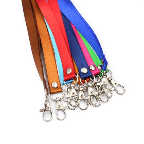 Neck Strap Lanyard Safety Breakaway For ID Name Badge Holder Keys Metal Clip .~