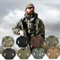 US STOCK Mens Outdoor Camo Waterproof Coat Military Tactical Army Hoodie Jacket