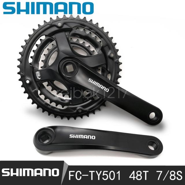 SHIMANO TOURNEY TY501--175MM--24T//34T//42T CRANK-NO CHAINGUARD-SALE