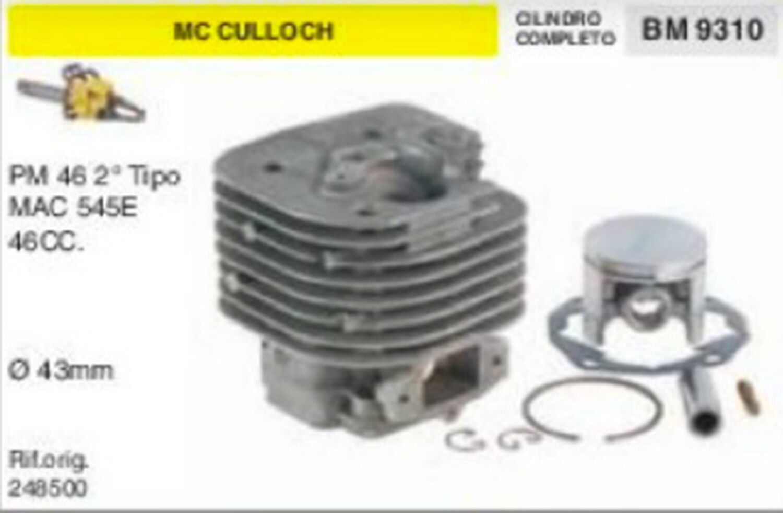 248500 CILINDRO E PISTONE MOTOSEGA McCULLOCH PM46 MAC 545 46cc Ø 43 mm