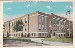Postcard-Wilber-Watts-High-School-Burlington-NJ