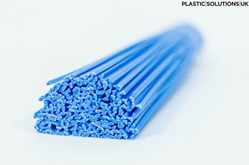pack of 30 pcs //triangular shape// 3mm blue ABS Plastic welding rods