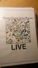 Dream Concert Series Presents: Led Zeppelin's Led Zeppelin 3 LIVE on DVD !! rare