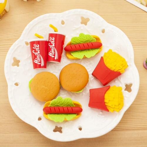 Gummi  x1 Packungen Food Style Radiergummis Fast D7Q7 Een heit Radiergummi