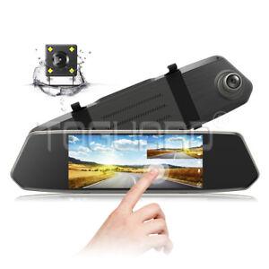 Mirror-Dash-Cam-TOGUARD-1080P-7-034-IPS-Touchscreen-Front-View-Dual-Lens-Car-Camera