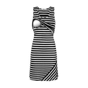 7590620b3 Image is loading Sleeveless-Maternity-Dresses-Nursing-Breastfeeding-Dress -For-Pregnant-