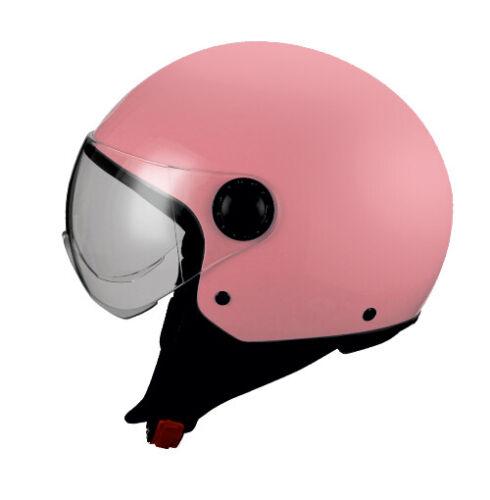Bhr Casco Demi Jet 801 Colore Rosa Opaco Disponibile in  Varie Tg