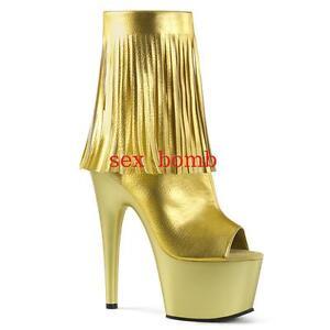 Frange Stivaletti Dal 18 Tacco Club Spuntati 41 Glamour Sexy Oro Al 35 Plateau SUw1nqx