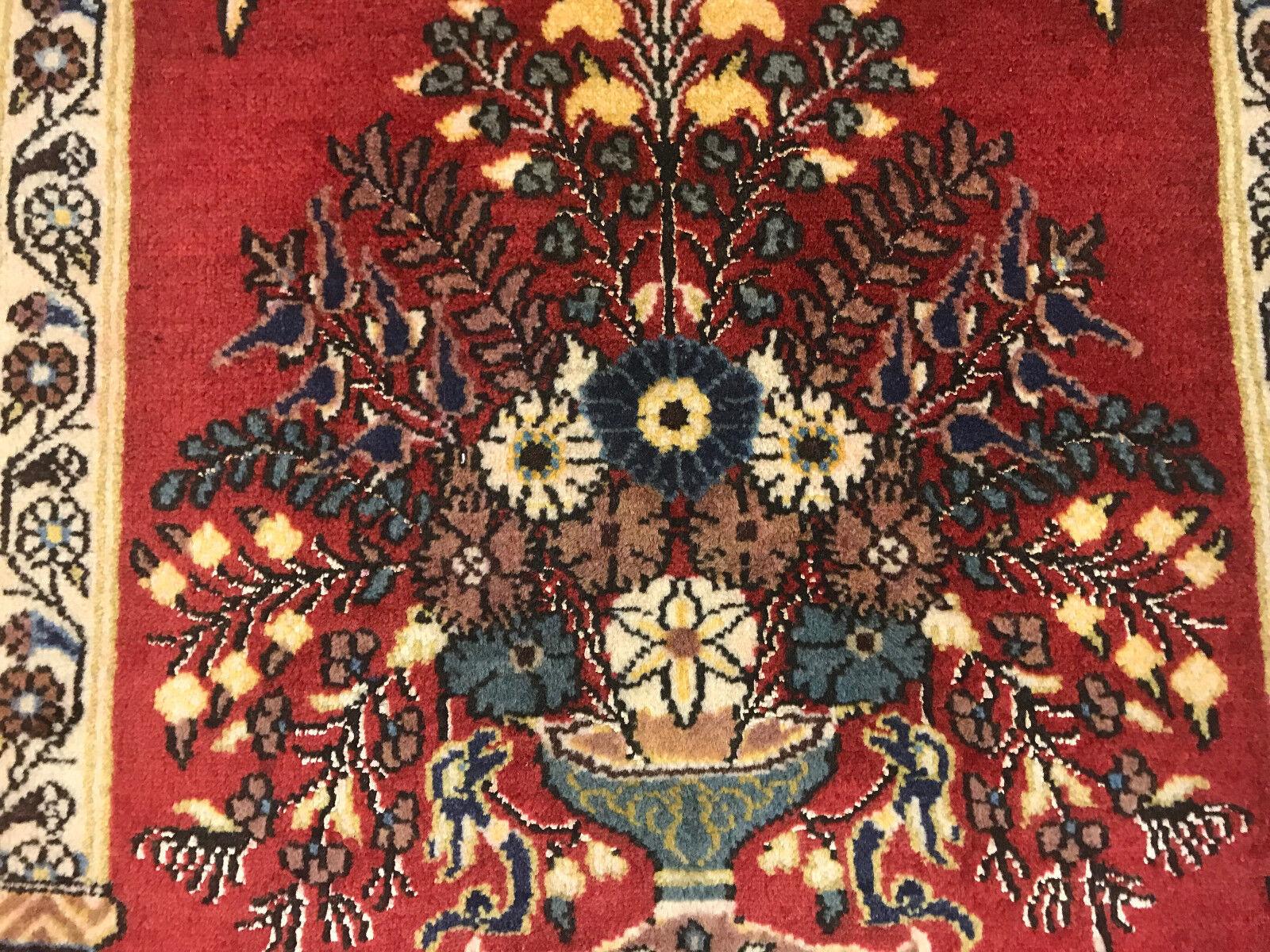 Ghom Ghom Ghom Orientteppich Perser Teppich 1,27x0,84 m  exklusive Bodenkunst NEU 14ba8a