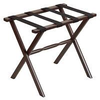 Luggage Racks - mayfair Wooden Luggage Rack - Beige Nylon Straps