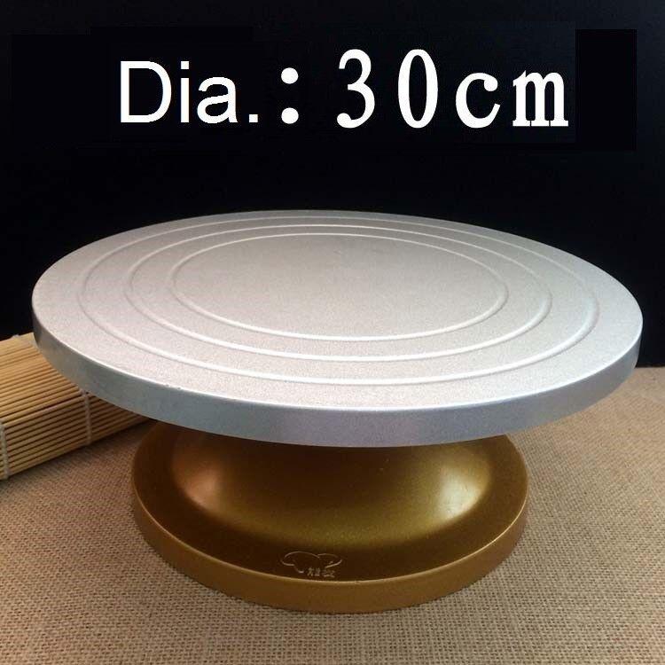 Crème Gateau Turntable Turntable rougeation Acier Table Décoration Cadre 30 33cm