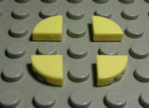 Lego Carreau-Tuile arrondi coin 1x1 jaune clair 4 pièces 1679 #