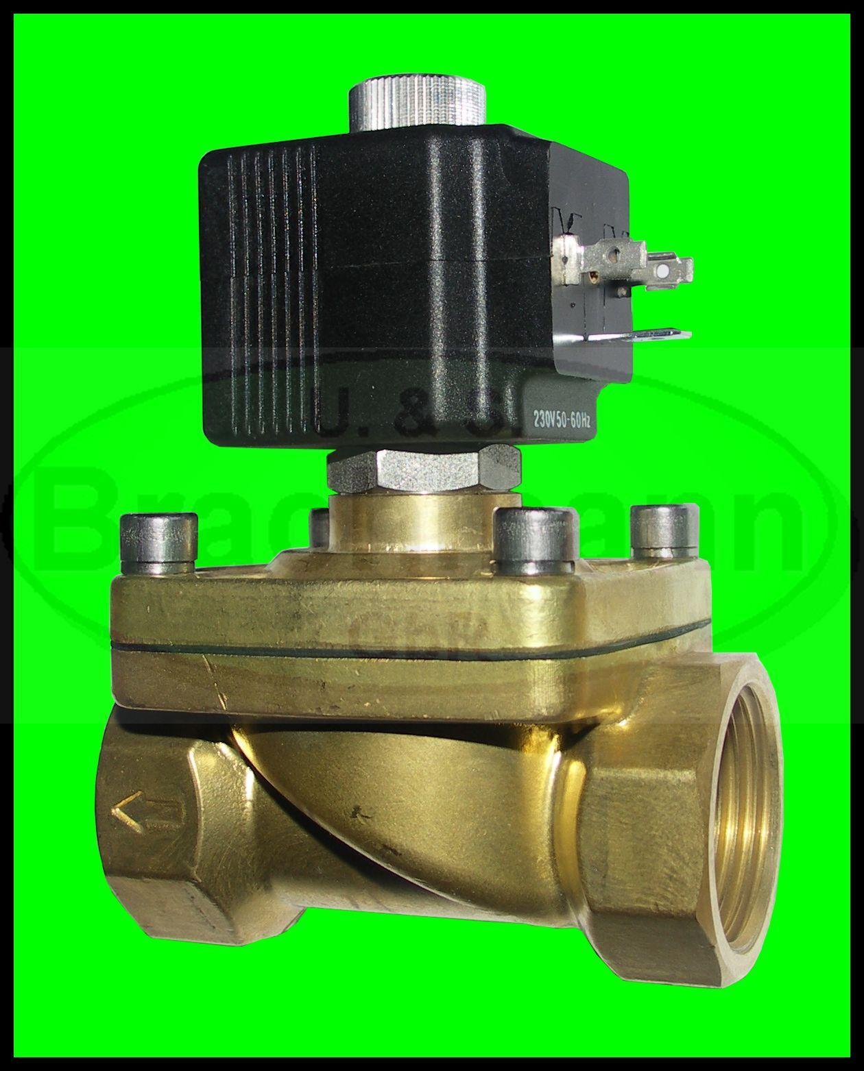 Electroválvula SVS 1 2  Latón 12v DC 0-7bar bares NC Agua Aire Calefacción