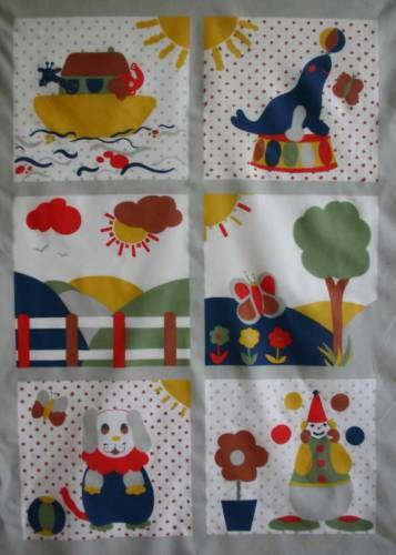 Children Nursery Bedding Fabric Patchwork quilting squares Baby Cot Quilt Panel