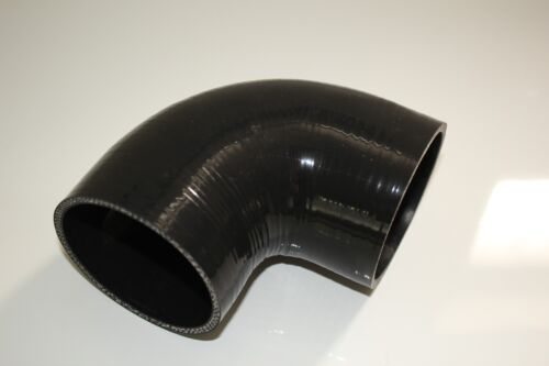 "3-PLY 3.0/"" 90°DEGREE TURBO//INTERCOOLER//INTAKE PIPE SILICONE COUPLER HOSE BLACK"