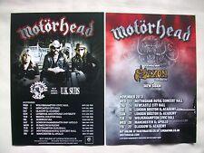 MOTORHEAD/U.K. Subs/Saxon/Skew Siskin LEMMY 2011/13 UK Tours. Promo flyers x 2