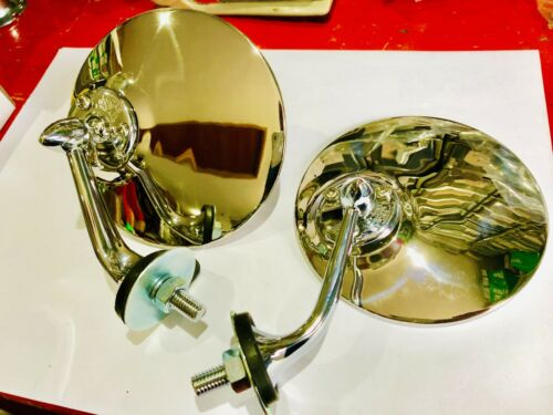 quality Classic  lucas style mirrors left and right hand Jaguar Xk150 140 120Bs5