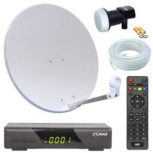 hd sat anlage 60 sch ssel mit comag receiver single lnb und kabel satanlage hell ebay