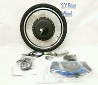 48v 1000w Electric Bike Rear 20 Wheel Conversion Kit 880 Led No Battery
