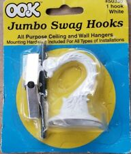 OOK 50330 Jumbo Swag Hook with Hardware White
