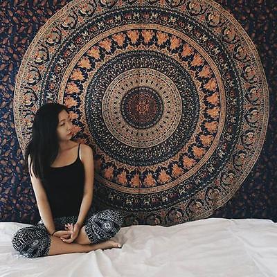 Indian Hippie Elephant Tapestry Bohemian Dorm Decor Mandala Throw Wall Hanging