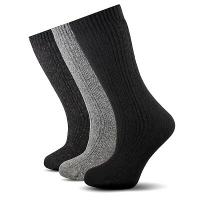 3 Pairs Pack  *Warmly* Pure Naturel Wool Black Hiking Winter Women Socks