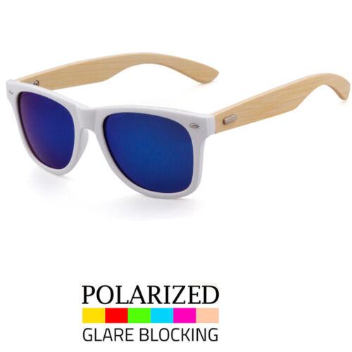 New Polarized Bamboo Sunglasses Wooden Wood Mens Women Retro Vintage Glasses