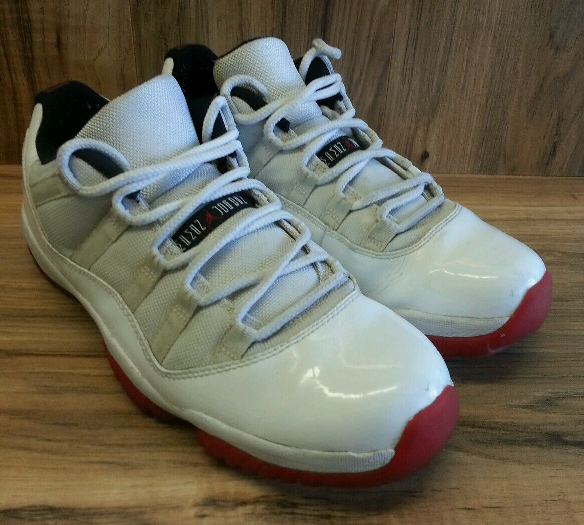 Nike Air Jordan XI 11 Retro Low White/Varsity Red-Black 2012 528895-101 SZ 11.5
