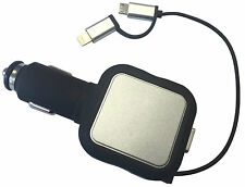 iPhone 6 7, iPad, iPod, Samsung, HTC Car, Van & Truck 12/24V Retractable Charger